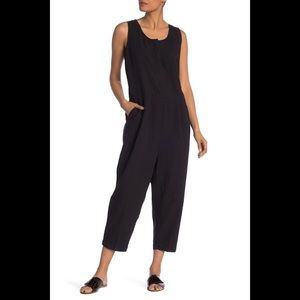 NWT EILEEN FISHER PLEATED SCOOP NECK JUMPSUIT S/P